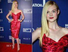 Elle Fanning In Vivienne Westwood Gold Label – Hollywood Foreign Press Association's Grants Banquet