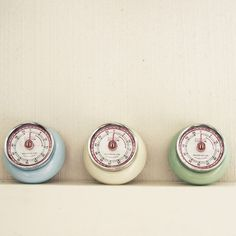 Retro magnetic kitchen timer   finch & crane.