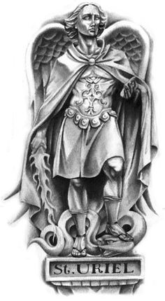 Archangel Uriel Tattoo Serpent tattoo tattoo design