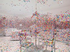 Yayoi Kusama brings her colourful dot-covered obliteration room to David Zwirner New York