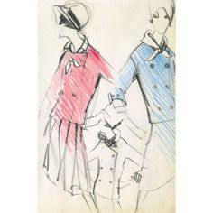 Original Balmain Dress Suit Fashion Sketch 1960 ($225) ❤ liked on Polyvore featuring home, home decor, wall art, parisian home decor, paris home decor, vintage home decor, parisian wall art and white home decor