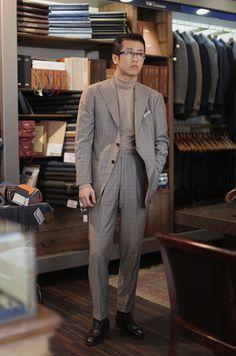 B&Tailor Wool/Cashmere Suit, B&Tailor Wool/Cashmere Turtleneck at B&Tailorshop