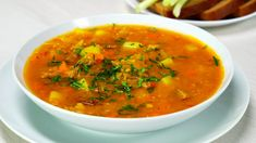 Beef Lentil Soup, Eastern Cuisine, Fried Vegetables, What To Cook, Fresh Herbs, Lentils, Food Videos, Food And Drink, Potatoes