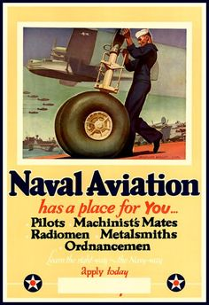 US Navy Naval Aviation  Advert Print 1940s WWII by BloominLuvly