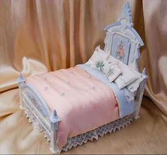 Silk Cover Painted Bed