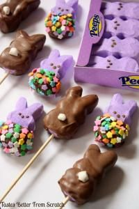 Chocolate-Dipped Peeps on MyRecipeMagic.com
