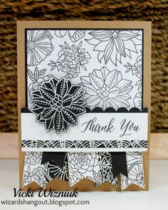 Here is another look at the December Stamp of the Month, Thoughtful Flowers.     I re-created a card I made years back, but this time I u...