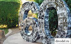 Отличная идея для подготовки к юбилею или идея для подарка на круглую дату. Объемные цифры из фотографий. Высота цифр примерно метр. Это отличный сюрприз на день рождения и красивая декорация. Цифры - это коллаж из семейных фото за все 60 лет..Сдел...