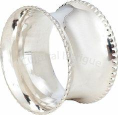 Silver Concave Napkin Ring