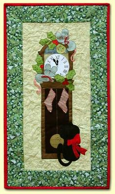 quilt patterns. quilts, Christmas, applique, cats, Cleo And Me  $7.50