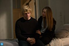 American Horror Story Episode 3.11 -  Protect the Coven - Evan Peters as Kyle and Taissa Farmiga as Zoe