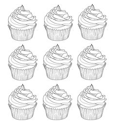 cupcakes warhol coloring pages printable and coloring book to print for free. Find more coloring pages online for kids and adults of cupcakes warhol coloring pages to print. Cupcake Coloring Pages, Food Coloring Pages, Coloring Pages For Grown Ups, Printable Coloring Pages, Adult Coloring Pages, Coloring Sheets, Coloring Books, Free Coloring, Filofax