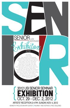 Senior Seminar Art Exhibition Postcard & Poster by Stephanie Reininga, via Behance
