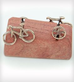 Road Bicycle Cuff Links | Perfect for the groom or groomsmen