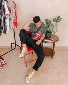 61b1ca97124 look masculino estiloso vintage e retro para o verão e reveillon 2019 estilo  tumblr com all