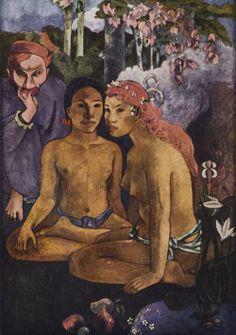 Paul Gauguin.  Contes barbares (Exotische Sagen). 1902, Öl auf Leinwand, 130 × 92 cm. Essen, Museum Folkwang. Synthetismus. Frankreich. Postimpressionismus.  KO 01367