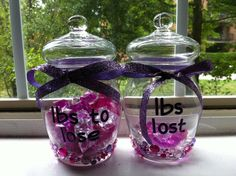 Weight loss jars. love this idea and will buy supplies to make my own.