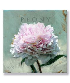 This Peony Giclee Canvas by Darren Gygi Illustration is perfect! #zulilyfinds