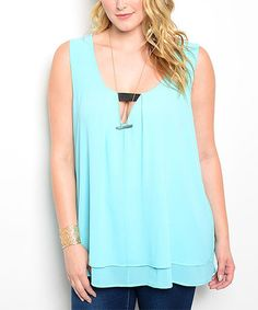 Another great find on #zulily! Blue Keyhole Tank - Plus #zulilyfinds