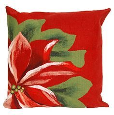 Kess InHouse Gabriela Fuente Happy X-Mas Red Geometric Illustration 26 Round Floor Pillow