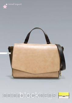 trend report... color block bags  http://www.bloglovin.com/blog/2955086/barbara-crespo