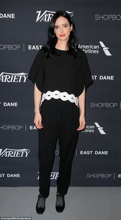 Monochrome: Kristen Ritter kept things in black and white as she an episode of Variety Studio: Actors on Actors, Los Angeles on Saturday