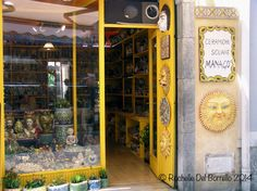 My mania for ceramics placated in this store at Taormina