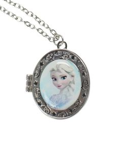 Disney Frozen Elsa Locket Necklace New with Tags Opens up to add Picture! HTF  #Disney