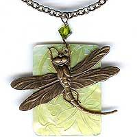 Our Dragonfly Shell Neclace Kit combines our Lilly Pilly Shells and Vintaj Dragonfly