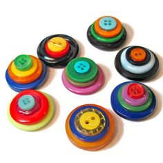 Colored Magnets,  Button Magnets, Handmade #Gift Ideas, #Upcycling