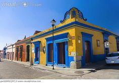 buildings mexico | Buildings in a street, Oaxaca, Oaxaca State, Mexico