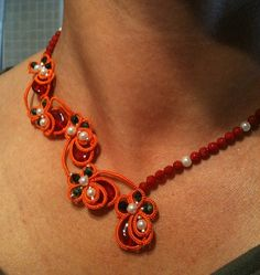 Tatted necklace Joie by CorinaMeyfeldt on Etsy