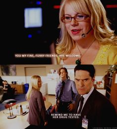 Kirsten Vangsneer (Penelope Garcia) and Thomas Gibson (Aaron Hotchner)- Criminal Minds Criminal Minds Funny, Criminal Minds Cast, Criminal Minds Garcia, Thomas Gibson, Dr Spencer Reid, Spencer Reid Quotes, Dr Reid, Behavioral Analysis Unit, Criminal Minds