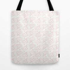 Pink paisley stars tote bag
