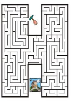 amazing maze 6 free coloring pages for kids printable. Maze Worksheet, Worksheets, Mazes For Kids Printable, Free Printable, Reading Games For Kids, Letter Maze, Kids Table Wedding, Maze Puzzles, Hidden Pictures