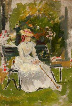 The Garden Bench by Ethel Walker