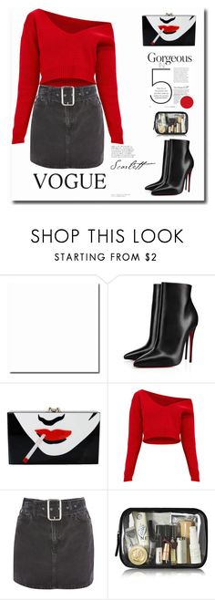 """""""All night seductive"""" by i-am-cool-girl ❤ liked on Polyvore featuring Christian Louboutin, Charlotte Olympia and Topshop"""