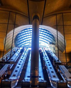 The magnificent interior of Canary Wharf Tube Station, Docklands, London. this will be included in my upcoming photo-blog 'The Towers Of London'. Taken on my iPhone SE using the Camera Plus Pro app, processed in Instagram. © Steve Swindells. July 2016.