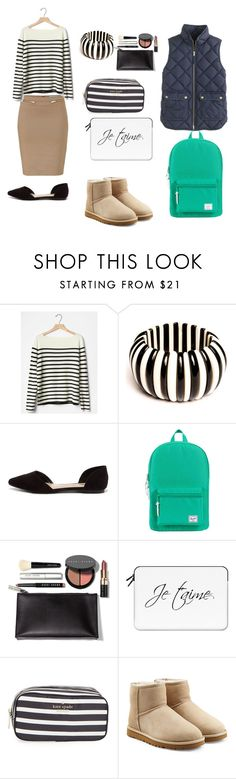 """Ready For School"" by design360 ❤ liked on Polyvore featuring Blumarine, Gap, Breckelle's, Herschel Supply Co., Bobbi Brown Cosmetics, Casetify, Kate Spade, UGG Australia and J.Crew"