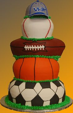 The ultimate wedding cake for a sports fan