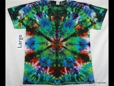 Tie Dye a Stained Glass design on a Tee - YouTube