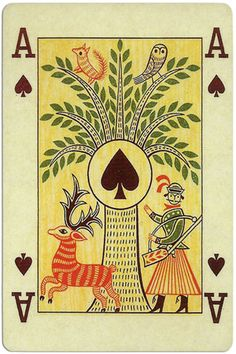 Ace of spades Ibusz beautiful folklore cards - Playing Cards Top 1000 Ace Of Spades, Deck Of Cards, Tarot Cards, Folklore, Ephemera, Art Art, Playing Cards, Symbols, Graphics