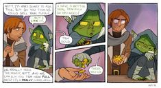 3-panel strip showing the Critical Role bit where Nott gives Caleb 10 gold out of nowhere