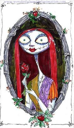 Original animation art concept piece of Sally from Nightmare Before Christmas from Disney Studios. This page links to our main page which has over 5000 pieces of animation art from Disney, Simpsons, Warner, etc. Tim Burton Art, Tim Burton Films, Halloween Town, Holidays Halloween, Nightmare Before Christmas Dolls, Tim Burton Characters, Jack The Pumpkin King, Zombie Girl, Jack And Sally