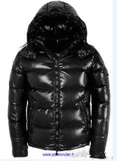 Moncler Maya Winter Down Jacket Mens Short Glossy Zip Black Cheap Moncler  Outlet Store. Rissy Malchow · Doudoune Veste Moncler Pas Cher Homme e950020c229