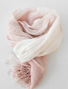 Nude Pink Ombre Scarf Pastel