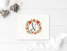 Monogram Note Set | Custom Stationary  | Custom Notecards | Personalized | Thank You Cards | Monogram |  Initial Notecards | For Women by ELouiseDesigns on Etsy