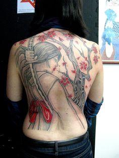 Back Tattoo Design For Girls photo - 3