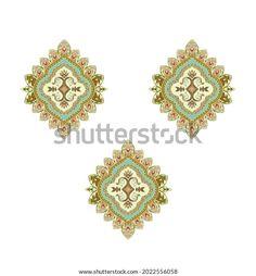 Digital Textile Design Motif Botanical Flower Stock Illustration 2022556058