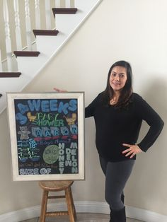 Chalkboard Pregnancy, Frame, Home Decor, Picture Frame, Decoration Home, Room Decor, Frames, Home Interior Design, Home Decoration